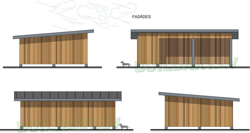 """Saimniecības ēkas projekts """"Grauds"""" - fasādes"""